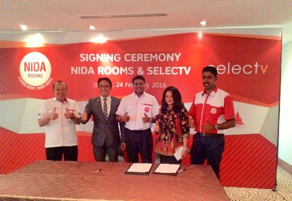 NIDA Room Gaet SelecTV Untuk Tingkatkan Kualitas Hiburan di Dalam Kamar