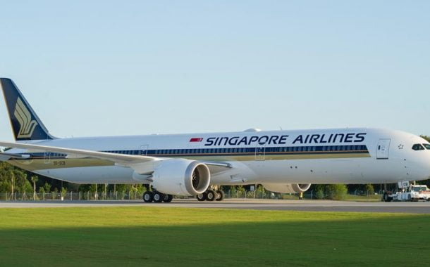 Boeing 787-10 Singapore Airlines Terbang ke Osaka