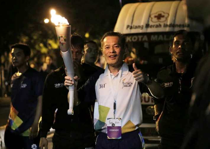 Indofood Sukseskan Pawai Obor Asian Games 2018