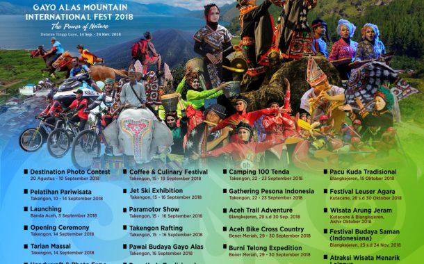 GAMI Festival 2018 Meriahkan Pariwisata di Poros Tengah Aceh