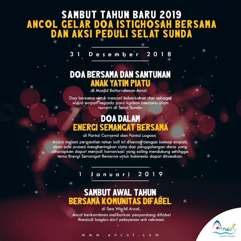 Sambut tahun baru 2019  Ancol Gelar Doa Bersama dan Aksi Peduli