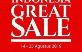 Indonesia Great Sale Akan Gelar Pesta Belanja Diskon sampai dengan 74%