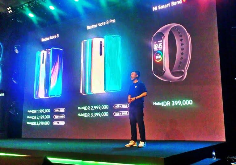 Xiaomi luncurkan Redmi Note 8, Redmi Note 8 Pro dan Mi Band 4 ke Indonesia