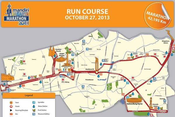 Kawasan Strategis dan Wisata Jakarta Jadi Rute Lari Marathon