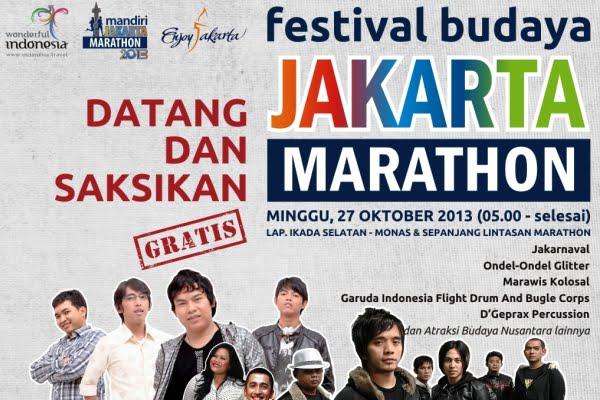 Festival Seni Budaya dan Kuliner Akan Ramaikan Jakarta Marathon 2013