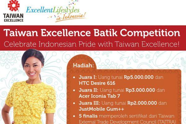 Taiwan Excellence Adakan Kompetisi Desain Motif Batik