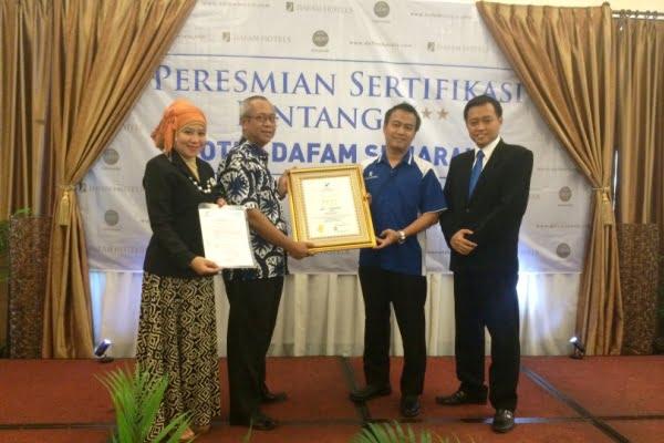 Hotel Dafam Semarang Raih Sertifikasi Bintang 4