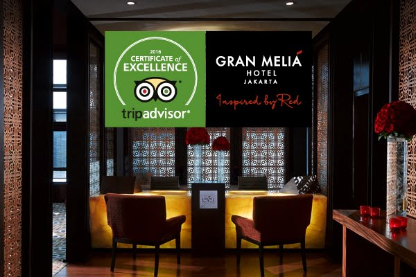 Gran Melia Jakarta Raih Penghargaan dari TripAdvisor