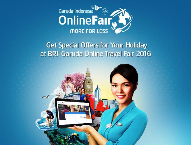 Mau Tiket Garuda Murah, Coba Ikuti Online Travel Fair