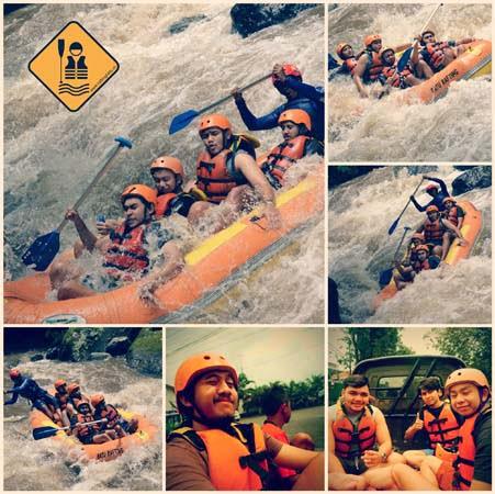 Mahasiswa Binus Rafting di Batu