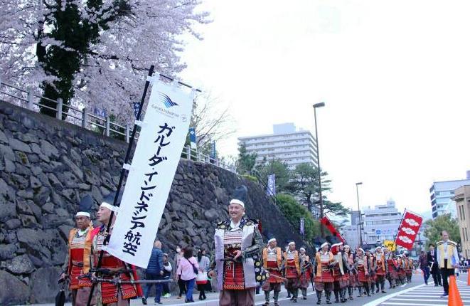 Garuda Indonesia Ramaikan Festival Samurai di Jepang
