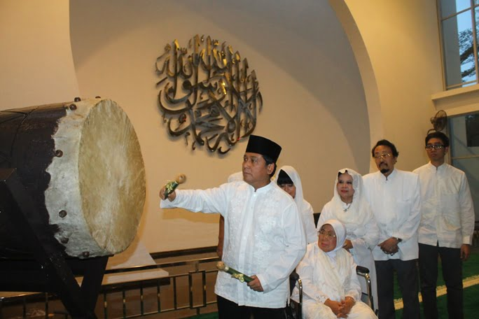 Bedug Hitting & Charity Awali Ramadan di Grand Sahid Jaya