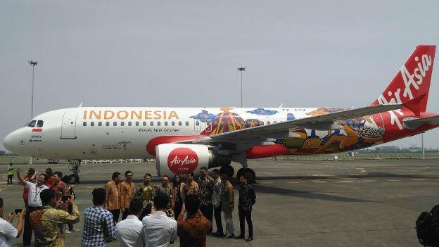 Wonderful Indonesia di Badan Pesawat Air Asia