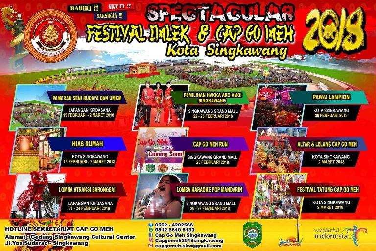 Tatung dan Rossa Meriahkan Festival Cap Go Meh di Kota Singkawang