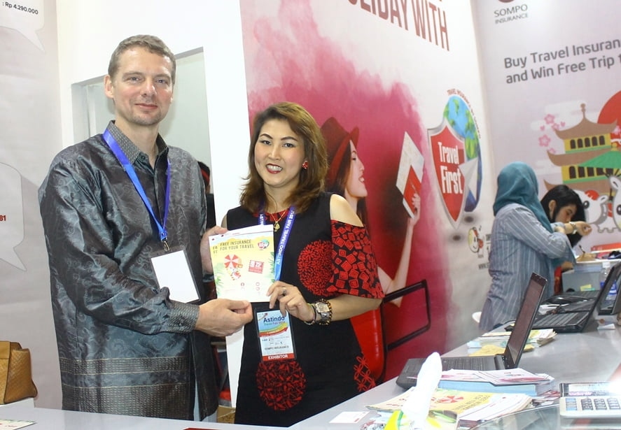 Asuransi Sompo Travel First Berikan Kenyamanan Traveler di Astindo Travel Fair 2018