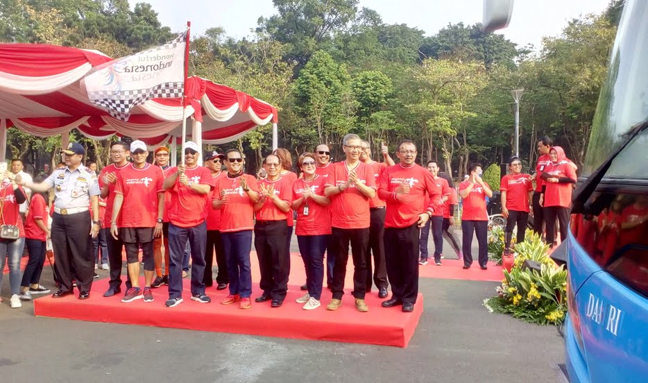 Seratus Bus Berlogo Wonderful Indonesia Menyambut Asian Games 2018