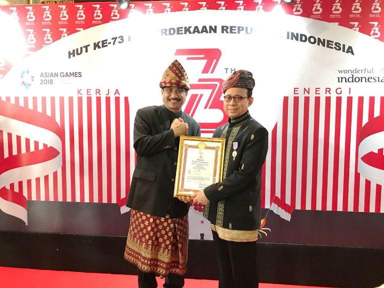 Pendiri Hotel Sofyan Raih Penghargaan Negara di Hut RI ke-73