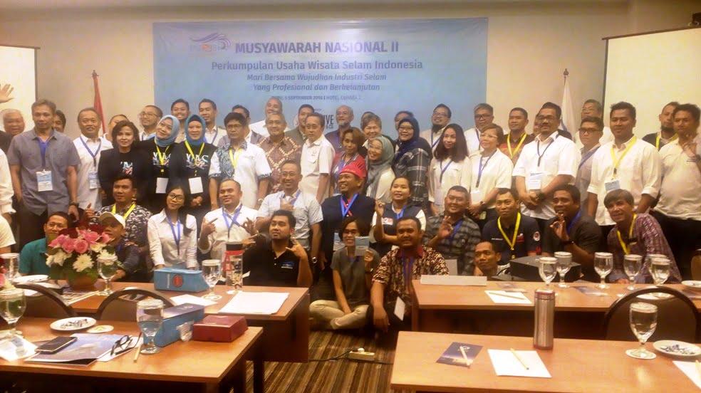 Perkumpulan Usaha Wisata Selam Indonesia Lakukan Musyawarah Nasional