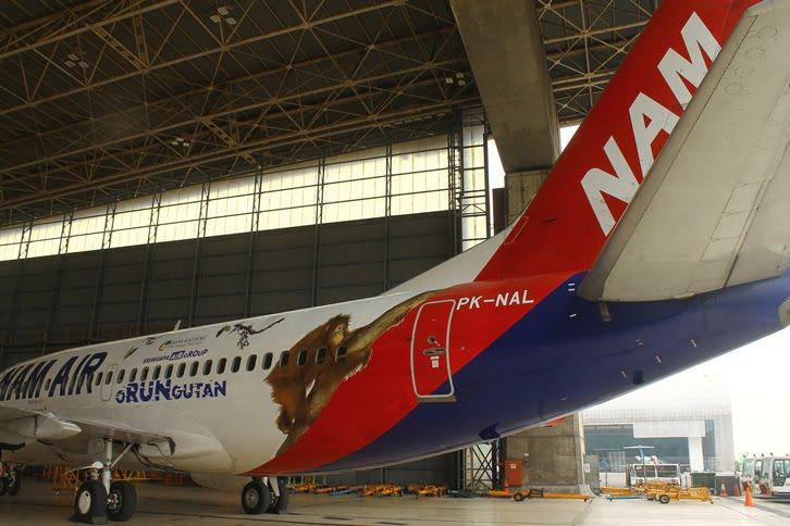 Sriwijaya Air Group Luncurkan Pesawat Bergambar Orang Utan