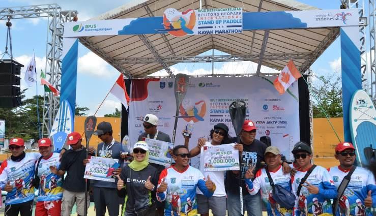 Lomba Stand Up Paddle dan Kayak Marathon Warnai Sport Tourism di Bangka Belitung