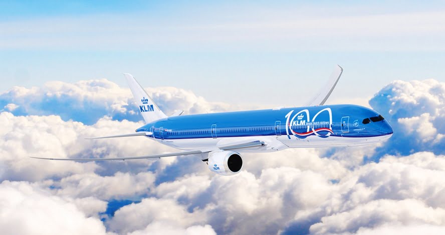 13 B787 10 Dreamliner with KLM 100 livery