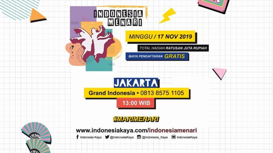 Pendaftaran Indonesia Menari 2019 Jakarta