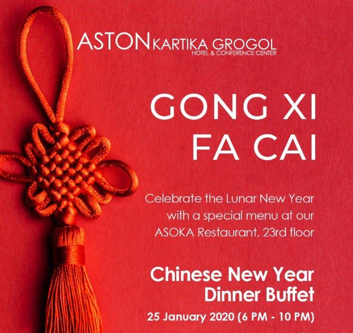 Dinner Chinese New Year di Aston Kartika Grogol