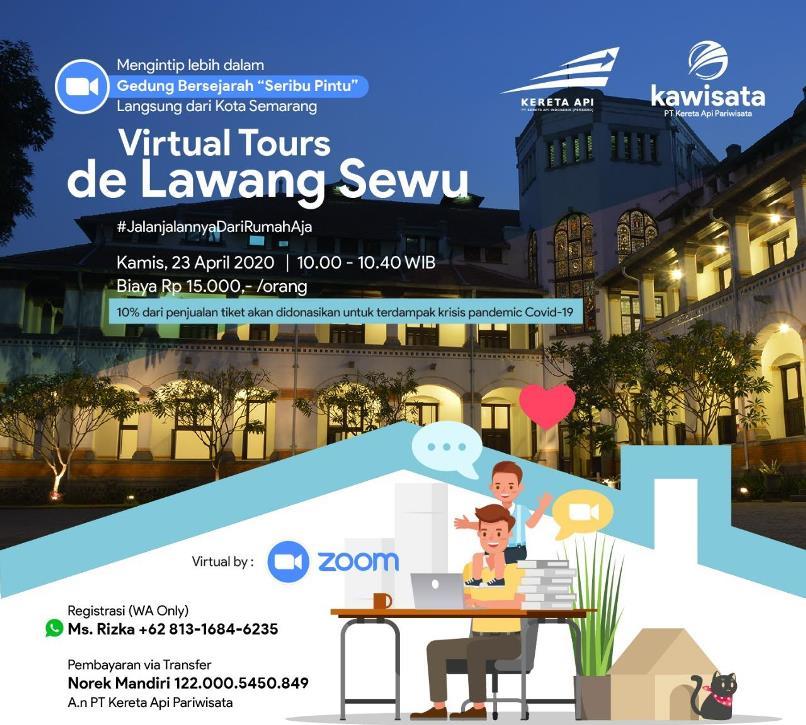 Kawisata Selenggarakan Tur Virtual ke Lawang Sewu