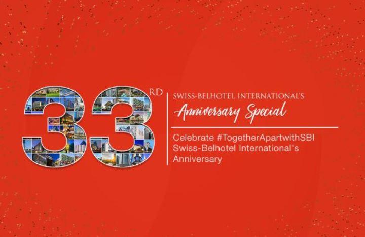 Swiss-Belhotel International Rayakan Hari Jadinya ke-33 dengan Promosi Global