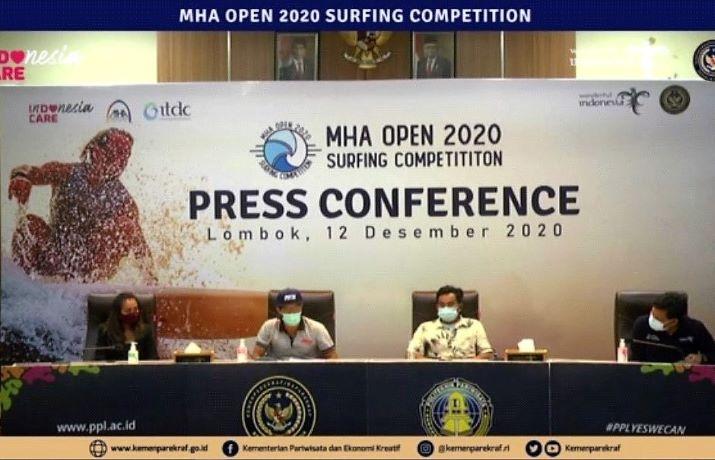Mandalika Selenggarakan MHA Open 2020 Surfing Competition