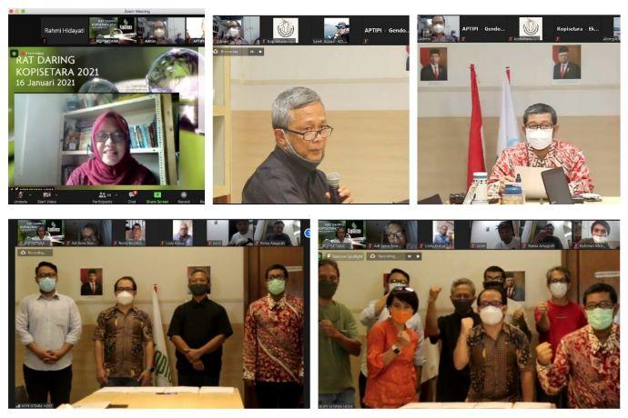 1 Tahun Kopisetara, Sukses Gelar Rapat Anggota Tahunan Virtual