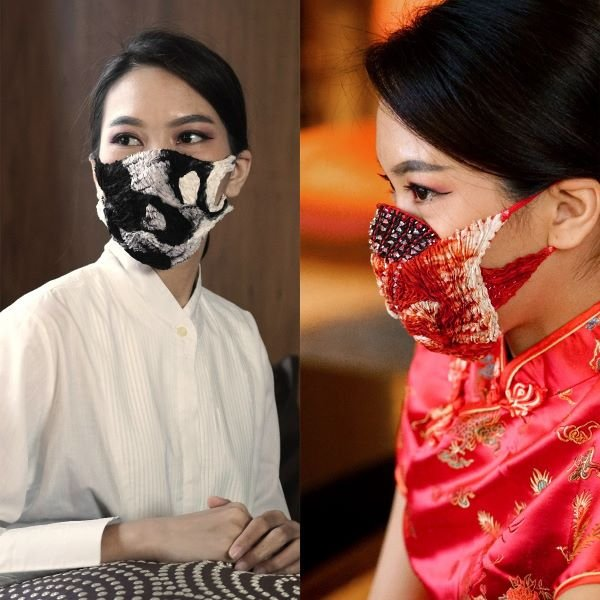 Red Black and White Masks