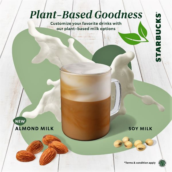 Starbucks Plant Based Goodness Almond Milk