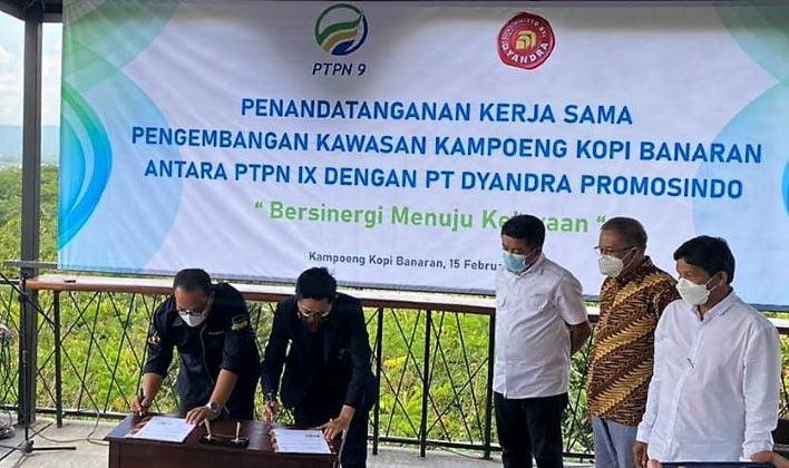 Dyandra Promosindo Resmi  Kelola Kampoeng Kopi Banaran Milik PTPN