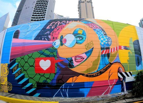 STB Kolaborasi Karya Mural Seniman  Singapura dan Indonesia