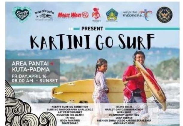 Kartini Go Surf, Peringati Hari Kartini Sambil Aktifkan Kembali Event Wisata Olahraga Bali
