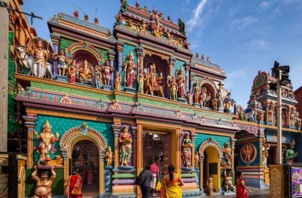 Kuil Hindu di Little India Singapura