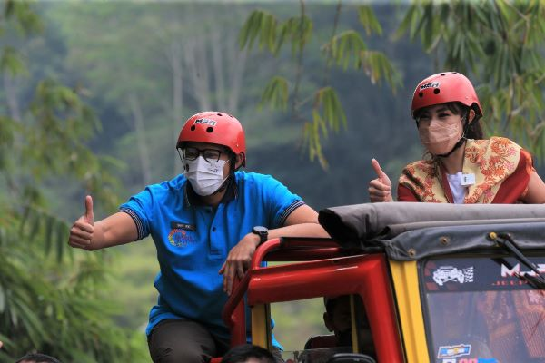 Kunjungi Desa Wisata Pentingsari di Sleman, Yogyakarta, Menparekraf Promosikan ADWI 2021
